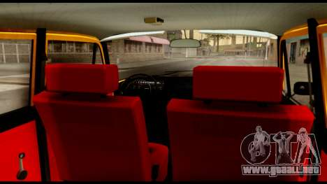 Moskvich 412-028 para GTA San Andreas vista hacia atrás