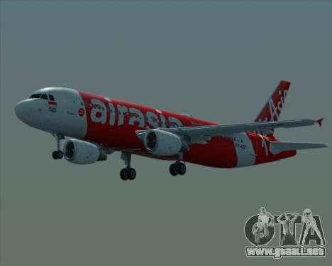 Airbus A320-200 Indonesia AirAsia para la vista superior GTA San Andreas