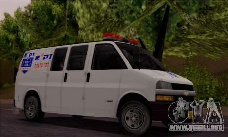 Chevrolet Exspress Ambulance para GTA San Andreas