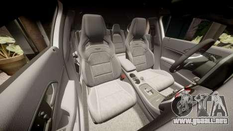 Mersedes-Benz A45 AMG PJs5 para GTA 4 vista superior