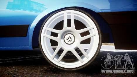 Volkswagen Voyage 1990 para GTA 4 vista hacia atrás