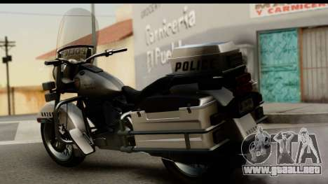Police Bike GTA 5 para GTA San Andreas left