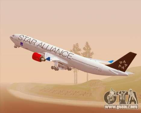 Airbus A330-300 SAS Star Alliance Livery para visión interna GTA San Andreas