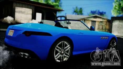 Benefactor Surano IVF para GTA San Andreas vista posterior izquierda