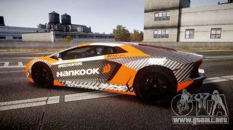 Lamborghini Aventador 2012 [EPM] Hankook Orange para GTA 4 left