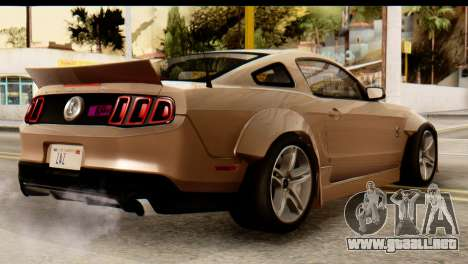 Ford Shelby GT500 RocketBunny para GTA San Andreas left