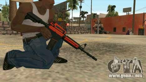 Orange M4A1 para GTA San Andreas sexta pantalla