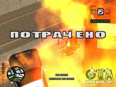 Cómodo C-HUD para GTA San Andreas tercera pantalla