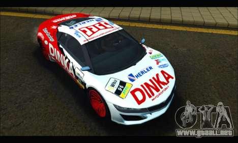 Dinka Jester Racear (GTA V) para GTA San Andreas vista hacia atrás