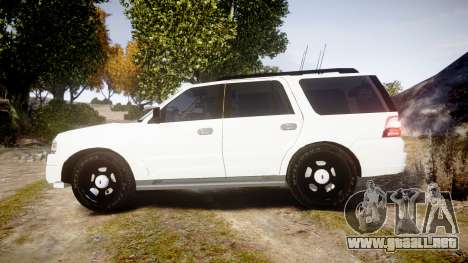 Ford Expedition West Virginia State Police [ELS] para GTA 4 left