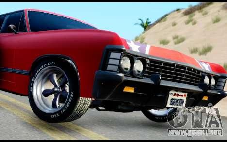 Chevrolet Impala para GTA San Andreas vista posterior izquierda