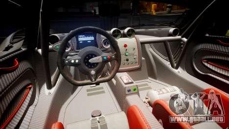 Pagani Zonda Revolution 2013 para GTA 4 vista lateral
