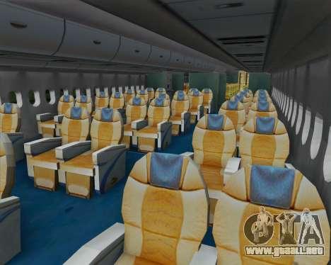 Airbus A380-800 F-WWDD Not Painted para visión interna GTA San Andreas