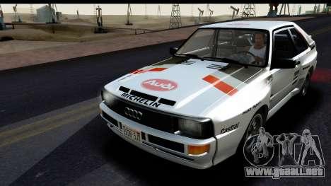 Audi Sport Quattro B2 (Typ 85Q) 1983 [HQLM] para visión interna GTA San Andreas