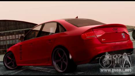 Audi S4 2010 Blacktop para GTA San Andreas left