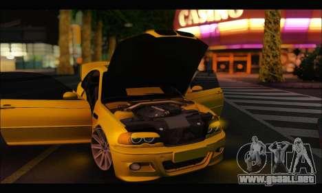 BMW M3 Coupe Tuned para GTA San Andreas vista hacia atrás