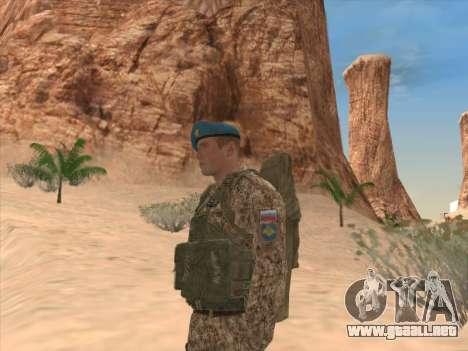 Granadero de las tropas aerotransportadas de la para GTA San Andreas sucesivamente de pantalla