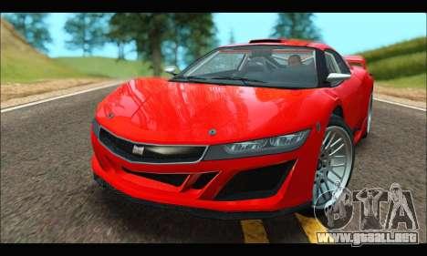 Dinka Jester Racecar (GTA V) (IVF) para GTA San Andreas left