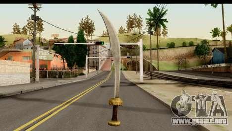 Scimitar Sword From Skyrim para GTA San Andreas segunda pantalla