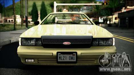 Civillian Vapid Stanier II from GTA 4 para GTA San Andreas vista posterior izquierda