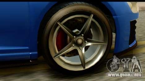 GTA 5 Obey 9F Coupe IVF para GTA San Andreas vista hacia atrás