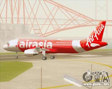 Airbus A320-200 Indonesia AirAsia para visión interna GTA San Andreas