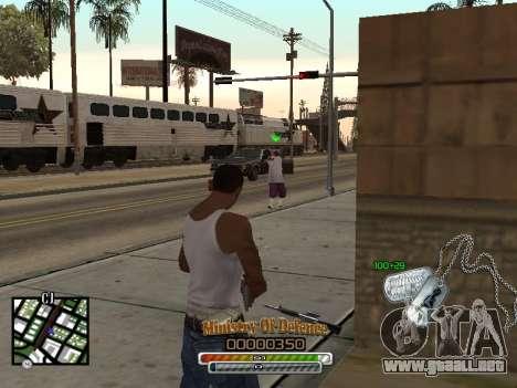 C-HUD для Ejército para GTA San Andreas tercera pantalla