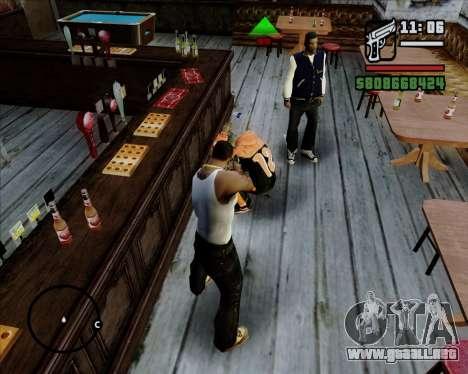 Indicador Digital de la vida de los opositores para GTA San Andreas sucesivamente de pantalla