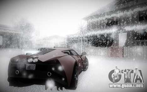 Invierno 2.0 ENBSeries para GTA San Andreas sucesivamente de pantalla