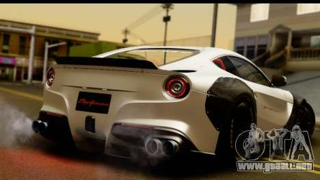Ferrari F12 Berlinetta para GTA San Andreas left