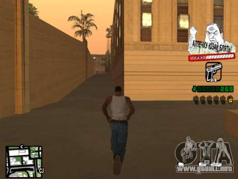C-HUD for Ghetto para GTA San Andreas segunda pantalla