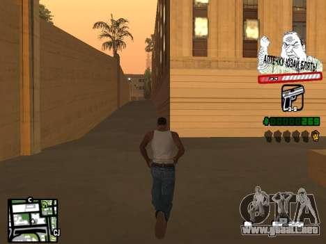 C-HUD for Ghetto para GTA San Andreas segunda pantalla