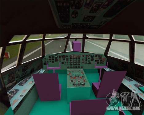 IL-76TD Gazprom Avia para vista lateral GTA San Andreas