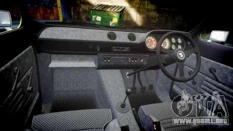 Ford Escort RS1600 PJ40 para GTA 4 vista interior