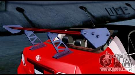 Toyota Corolla 2012 LOJACK Racing para GTA San Andreas vista hacia atrás