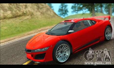 Dinka Jester Racecar (GTA V) (IVF) para GTA San Andreas vista posterior izquierda