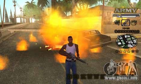 C-HUD Army para GTA San Andreas sexta pantalla