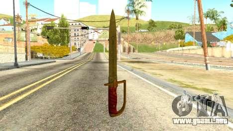 Antique Cavalry Dagger from GTA 5 para GTA San Andreas segunda pantalla