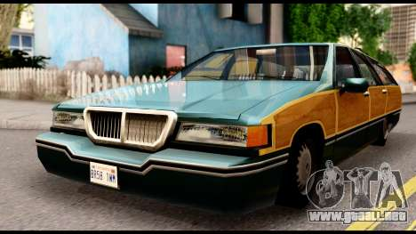Elegant Station Wagon with Wood Panels para la visión correcta GTA San Andreas