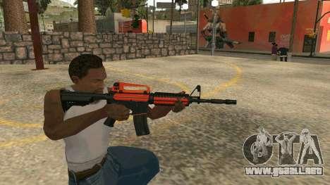 Orange M4A1 para GTA San Andreas quinta pantalla
