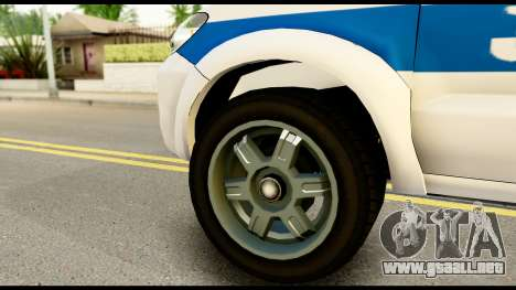 Toyota Hilux Georgia Police para GTA San Andreas vista posterior izquierda