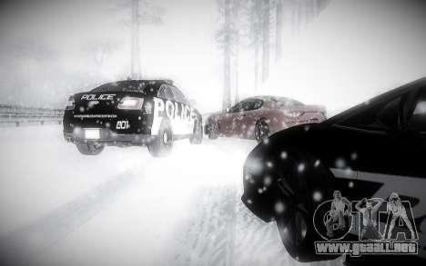 Invierno 2.0 ENBSeries para GTA San Andreas quinta pantalla