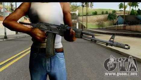 De plástico AKS-74 para GTA San Andreas tercera pantalla