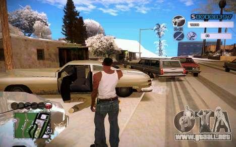 C-HUD by Jeremy Wilsher para GTA San Andreas segunda pantalla