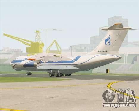 IL-76TD Gazprom Avia para la visión correcta GTA San Andreas