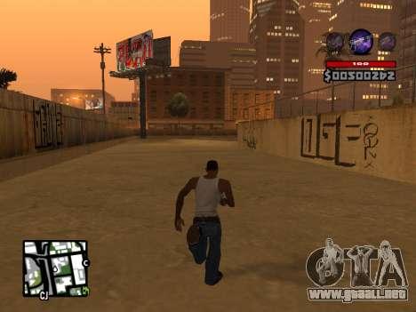 C-HUD by Granto para GTA San Andreas quinta pantalla