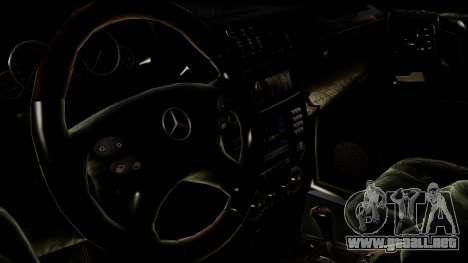 Mercedes-Benz G55 AMG para GTA San Andreas vista posterior izquierda