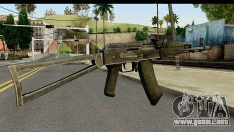 De plástico AKS-74 para GTA San Andreas segunda pantalla