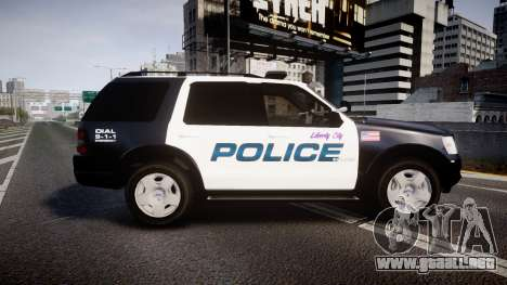 Ford Explorer 2008 Police [ELS] para GTA 4 left