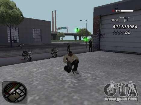 C-HUD White para GTA San Andreas tercera pantalla